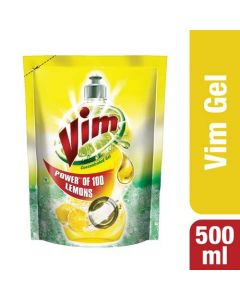 Vim Dishwash Liquid - Lemon 500 ml