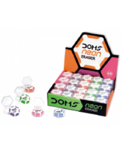 Doms Neon Eraser -  300 Pieces Box