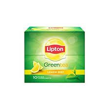 Lipton Green Tea  Lemon Zest 10 Bags (10 x 1.3g Each)