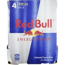 Redbull 4 Pack 250ml
