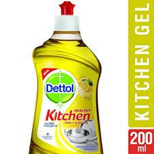 Dettol Healthy Kitchen Dish and Slab Gel Lemon Fresh 200 ml