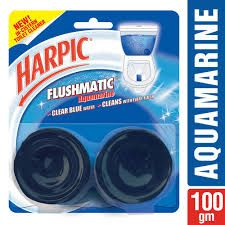Harpic Flushmatic Twin In Cistern Toilet Cleaner (Aquamarine)  100 gm