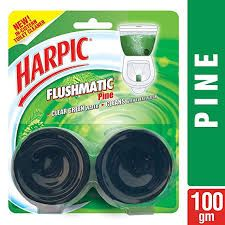 Harpic Flushmatic Twin In Cistern Toilet Cleaner (Pine)  100 gm