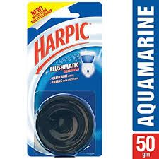 Harpic Flushmatic In Cistern Toilet Cleaner (Aquamarine)  50 gm