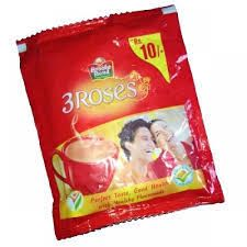 Brooke Bond Tea  3 Roses Rs.10 Sachet