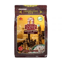 India Gate Basmati Rice - Classic, 1 kg Pouch
