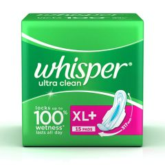 Whisper Ultra Sanitary Pads XL Plus Wings 15 Count
